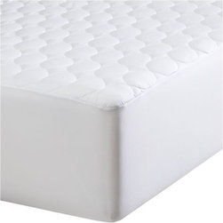 "Extra Long Twin Mattress Pad - Upgrade to our exclusive mattress pad in 300-thread-count cotton with health-conscious Tencel® top cover, a natural inhibitor of mold and dust mites. 15"" fitted polyester elastic skirt fits up to 17"" mattresses. New extra-long twin size fits standard or oversized dorm mattresses. Mattresses also available."