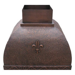 """myCustomMade - Stove Hood Copper """"Jacksonville"""", Natural Fired, 36"""", Wall Mount - Colonial design makes this stove hood copper a great addition to the kitchen. Customize the craftsman copper hood by choosing natural fired, coffee, honey or antique finishing. """"Jacksonville"""" style is produced as 30, 36 or 48 inches wide. Its depth is 22"""", height 36"""" and it takes about thirty days to deliver. Once purchased specify the hood 210000028 version as wall mount or kitchen island. Enjoy free delivery."""