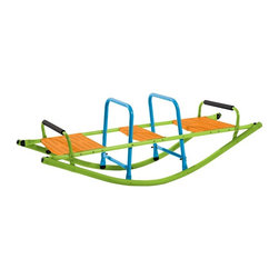 Pure Global Brands Inc - Pure Fun Rocker Seesaw Multicolor - 9306RS - Shop for Swings Slides and Gyms from Hayneedle.com! Designed purely for fun the Pure Fun Rocker Seesaw is ideal for two. This seesaw is built tough with a steel frame powder-coated in bright green blue and orange. Safety and comfort features include easy-mount seats large handle grips and seat back supports. This rocking seesaw is designed for kids 4 to 10 years old and up to 75 pounds.About Pure Global Brands Inc.Pure Global Brands Inc. has a commitment to creating the finest quality sports and leisure equipment for both active and casual lifestyles. Their motto is simply good products for real life reflected in their resilient versatile products each made with a focus on perfection in every step of the process. High quality products with affordable options to fit every budget every Pure Global Brand product is guaranteed to satisfy. A rigid adherence to modern safety standards and a focus on customer satisfaction has made Pure Global Brands Inc. a force to be reckoned with on the world market.