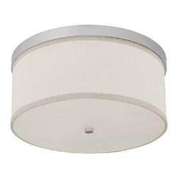 Capital Lighting - Capital Lighting Midtown Transitional Flush Mount Ceiling Light X-084-NM5102 - This Capital Lighting Midtown Transitional flush mount ceiling light features a decorative fabric shade and a frosted tempered diffuser to ensure comfortable illumination. The ceiling light is elegantly made and designed. It is a perfect combination of contemporary and traditional styles.