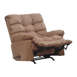 Catnapper Magnum Big Man Saddle Chaise Rocker Recliner with Heat and Massage -