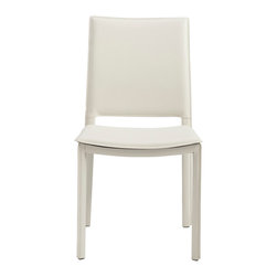 Eurostyle - Kate Side Chair (Set Of 4), White Leatherette - Leatherette covered seat, back and legs on steel frame