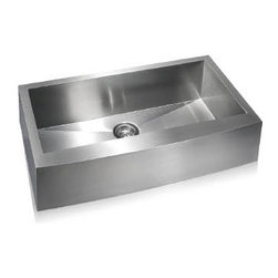 Lenova - Lenova Ss-Ap-S36 Udermount Apron Front Single Bowl Kitchen Sink Stainless Steel - The Lenova SS-AP-S36 Steel Apron Single-Bowl Undermount Kitchen Sink, Large has overall sink dimensions of 35-7/8-Inch by 21-Inch and bowl dimensions of 33-Inch by 16-Inch by 10-Inch. The name Lenova is born from a love of space and stars where the universe is truly unlimited. In this boundless spirit we present a line of new and timeless designs for kitchen and bath sinks. The Steel Apron Collection is a unique interpretation of a classic look. Hand made to our specifications in 16-Gauge premium stainless steel with scratch-resistant satin finish and 5 - Side sound baffling, plus our superior X Channel drainage technology. The Steel Apron Sinks bring the past into the present with sleek lines and graceful bowed apron fronts. Covered by Lenova's Limited Lifetime Warranty: Lenova Sinkware warrants all of its stainless steel sinks to be free of all manufacturing and material defects under normal use by the original owner.