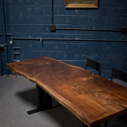 Elpis In Studio Work - Dining Tables - 7 1/2' Long 8 Person Black Walnut Dining Table.