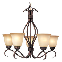 Maxim Lighting - Maxim 85125WSOI - Five Light Oil Rubbed Bronze Wilshire Glass Up Chandelier - Category: Single-Tier Chandelier