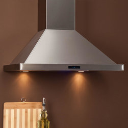 """30"""" Arezzo Series Stainless Steel Wall-Mount Range Hood - 900 CFM - With a 6 speed blower and 2 halogen lights, this wall-mount Arezzo Series stainless steel range hood is sure to suit the busiest of kitchens."""