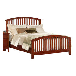 Vaughan Bassett - VaughanBassett Appalachian Hardwood Simply Cherry King Arched Slat Bed in Dark - Create a homey and cozy atmosphere in your bedroom with this arched slat bed. This simple and unpretentious bed is constructed using the highest quality solid wood from the Appalachian mountains. Made in America using the best materials, this sturdy and dependable bed will last for years to come.