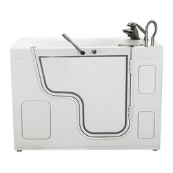 Ella Wheelchair Acrylic Air and Hydro Therapy Walk In Bath - Tub Shell High Quality Textured Acrylic Material