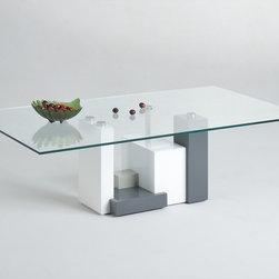 Chintaly Imports - Shelley Rectangular Glass Cocktail Table - Shelley Rectangular Glass Cocktail Table