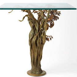 Bronze leafy sea dragon (end table) - 'Hidden Within'