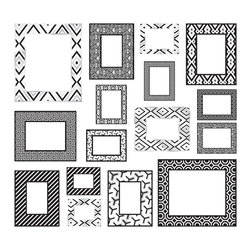 "WallPops - Black and White Frames Wall Decals - Bring your own happy chic personality to decor with a salon wall! These black and white frame wall decals are ultra chic and you need them.  This kit comes on two 17.25"" x 39"" sheets and as always WallPops are repositionable and totally removable."