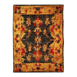"""Safavieh - Rectangular Charcoal and Gold Hemp Rug (3 ft. x 5 ft.) - Size: 3 ft. x 5 ft. Hand knotted. Made of hemp. Made in India. Safavieh's Bohemian Collection is all-organic, with exquisitely fine jute pile woven onto a cotton warp and weft, and an earthy natural color palette. The high quality jute chosen for our Bohemian rugs is biodegradable and recyclable, with an innate sheen because it is harvested only from Cannabis Sativa (commonly known as the """"true hemp"""" plant), a quickly renewable resource that excels in length, durability, anti-mildew and antimicrobial properties. Safavieh brings fashion excitement to the eco-friendly rug category with the Bohemian collection's unique patterns, ribbed textures and remarkable hand. The rugs are washed to soften the yarn, and then brushed to an even more lustrous sheen. Hand Knotted in India."""