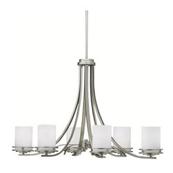 "Kichler - Kichler 1673NI Hendrik Single-Tier Chandelier w/6 Lights - Stem - 18"" Wide - Product Features:"