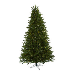 Nearly Natural - 7.5' Rembrandt Christmas Tree with Clear Lights - This classic Christmas tree is perfect for your holiday decorating needs. Standing a full seven and a half feet high, it's guaranteed to fill your home or office with Christmas spirit, season after season. Featuring more than 1700 tips (ready to hold all sorts of ornaments) and 650 lights (that stay burning even if one goes out), this full, lush tree is ready to make your holidays complete.