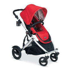 Britax - Britax B-Ready Stroller - Red - U281792 - Shop for Carriages and Strollers from Hayneedle.com! From the time you bring baby home 'til he's grown too restless and curious for a stroller the Britax B-Ready Stroller - Red will be there for your whole family. The B-Ready includes one seat for children six months and up up to 55 lbs. Purchase a second seat like this one and you've got even more ways to enjoy this stroller. In all there are over 14 possible ways to configure seats car seats and bassinets on the B-Ready. Additional features Reversible top seat faces forward or backward and has 3 reclining positions Large under-seat storage is accessible from all sides Large canopy with sun visor and ventilation window Folds easily and features an automatic chassis lock Adjustable handle height offers both parents comfort One-step linked brake locks both rear wheels with one step All-wheel suspension for a smooth ride Storage bag is removable Includes insulated drink holders About BritaxBritax has been a leading innovator in child seat safety and ease of use for over 70 years. The bestselling child car seat manufacturer in Europe Britax came to the United States market in 1996 and quickly became one of the most-trusted child car seat brands in the country. Dedicated to child safety Britax puts their products through rigorous testing and works with vehicle manufacturers to come up with vehicle design improvements to enhance child safety and performance of car seats. Britax also realizes that today's parents like to show off their flair for style and this understanding is reflected in their car seats' unique designs and easy-to-clean fabrics.