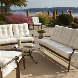Panama Jack - Panama Jack Island Breeze Deep Seating 5-piece Set - Transform an outdoor space into a relaxing getaway spot with this five-piece set from Panama Jack's Island Breeze collection. The set features a powder-coated espresso finish to prevent rust and thick cushions.