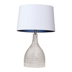 Bassett Mirror - Bassett Mirror Jasime Table Lamp L2580TEC - Bassett Mirror Jasime Table Lamp L2580TEC