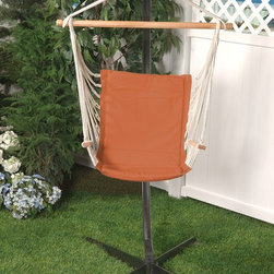 Bliss Hammock Metro Chair - The Bliss Hammock Metro Chair is the perfect place to sit and relax in your backyard. The strong and comfortable cushioned cotton cradles your body and is extremely weather resistant.