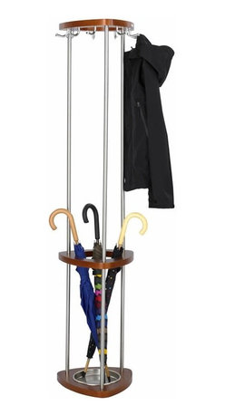 Safco - Safco Mode Wood Coat Rack with Umbrella Stand - Safco - Coat Racks - 4214CY - Greet guests with a little contemporary style while offering them a place for their coat umbrella or hat. Have Mode™ at the entrance to your office in a reception area staff lounge lobby or waiting area. Or even have Mode available in conference or meetings areas for your guests. It's the right solution to make your guests feel a little more at home.