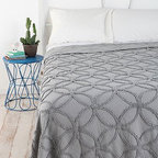 Circle Chain Chenille Blanket - I've always been drawn to geometric patterns. I love this one because it isn't loud. It's got pattern, but in a subtle and classy way.