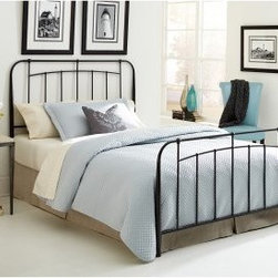 Concorde Bed - Add casual charm to any bedroom with the Concorde Bed. Its design was inspired by vintage pieces and features a tubular steel frame and black speckle finish. Simple and stylish, this bed is available in full, queen, and king sizes.Bed Dimensions:Full: 80.56W x 54D x 51H inchesQueen: 80.56W x 61D x 51H inchesKing: 80.56W x 77D x 51H inchesAbout Fashion Bed GroupFashion Bed Group is a Leggett and Platt Company known for its innovative fashion beds, daybeds, futons, bunk beds, bed frames, and bedding support. Created in 1991, Fashion Bed Group is a large consolidation of three leading bed manufacturers. Its beds are manufactured of genuine brass, plated brass, cast zinc, cast aluminum, steel, iron, wood, wicker, and rattan. Fashion Bed Group's products are distributed throughout North America from warehouses located in Chicago, Los Angeles, Houston, Toronto, and Ennis, Texas.
