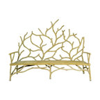 Elwynn Faux Bois Bench - This bench by Currey & Company is a versatile perch that would work well indoors (perhaps as extra hall seating or as a chair alternative for your eat-in kitchen) or outdoors on the patio.