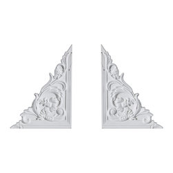 uDecor - OR-5489-L-R Ornamental - Accent features are manufactured with a dense architectural polyurethane compound (not Styrofoam) that allows it to be very durable and 100% waterproof. These corbels are delivered pre-primed for paint. It is installed with architectural adhesive and/or finish nails. It can also be finished with caulk, spackle and your choice of paint, just like wood or MDF. A major advantage of polyurethane is that it will not expand, constrict or warp over time with changes in temperature or humidity. It's safe to install in rooms with the presence of moisture like bathrooms and kitchens. This product will not encourage the growth of mold or mildew, and it will never rot.