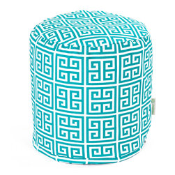 Majestic Home - Outdoor Pacific Towers Small Pouf - Add comfort and flare to any room with Majestic Home Goods Indoor/Outdoor Small Pouf Ottomans. These small poufs can be used as a foot stool, side table or as extra seating in your home or backyard. The beanbag inserts are eco-friendly by using up to 50% recycled polystyrene beads. The removable zippered slipcovers are woven from Outdoor Treated polyester with up to 1000 hours of U.V. protection, and are machine-washable.