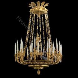 Monumental Chandeliers by Heuvelmans Interiors - Heuvelmans Interiors gilt bronze chandelier ref.CHAND.906