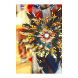 """20x30 Star Feather -Digital Print - Original Art by Ian Kennedy entitled """"Star Feather"""" it is printed on coated canvas that is mounted in Gallery Wrap style so the edges show all the color of the 20x30 image."""