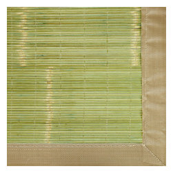 Key West Bamboo Rug - Bamboo rugs have been a traditional floor covering in the Far East for centuries. They add a touch of organic, practical elegance to any space. Our bamboo rugs are made of the finest quality, sustainably harvested bamboo in the world for supreme durability. Kiln-dried bamboo is machine-planed and sanded for a smooth finish. This classic collection offers a variety of intriguing designs and brilliant colors to choose from. Mitered polypropylene borders provide resilience and clean design. 100% Moso bamboo is renowned for its durability and is sustainably harvested in its native habitat in the Anji Mountains of China. Kiln-dried bamboo is machine-planed and sanded for a smooth finish. Patented, ventilated, non-skid backing cushions while keeping rug in place.
