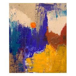 Lesli Marshall Mixed Media Artist - 'L'Orange' Original Painting by Lesli Marshall - 48 x 60