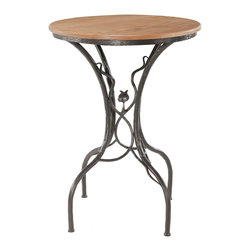 """Sassafras Bar Table (40"""" Tall) Stone County Ironworks - Dimensions:"""