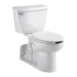American Standard - Yorkville FloWise Right Height Elongated Two-Piece Toilet in White - American Standard 2878.100.020 Yorkville FloWise Right Height Elongated Two-Piece Toilet in White.