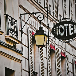 Hotel Saint-Louis En L'Isle 1 Paris, Fine Art Photography Print, 10X15 - Taken in July 2012. This is the front of the Hotel Saint-Louis en L'Isle. It is steps away from Notre Dame cathedral i n Paris.  It looks so romantic and charming! Love the lantern and the hotel signage.