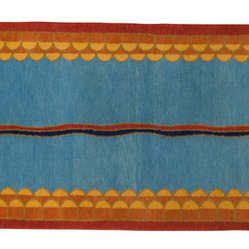 "Milan Heger - ""Sultan"" runner rug - This 3' x 12' carpet is hand knotted in New Zealand wool, 100 knots/inch2."