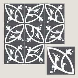 Villa Lagoon Cement Tiles - I love this tile. Sweet and edgy at the same time and would look great as an entryway floor, backsplash, or powder room floor.