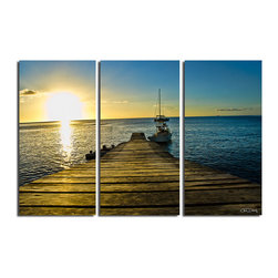 """Ready2HangArt - Ready2HangArt Christopher Doherty 'Wooden Pier' Canvas Wall Art (3 Piece) - Renowned photographer Chris Doherty, takes you on adventures under and above water thru his imagery. This photograph is offered as part of a limited """"Home Decor"""" line, being the perfect addition to any living or work space."""