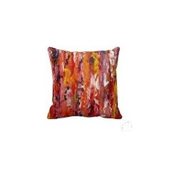 """zazzle - Contemporary Abstract Art Throw Pillows """"JUICY"""" by Holly Anderson - HOLLY ANDERSON ART"""