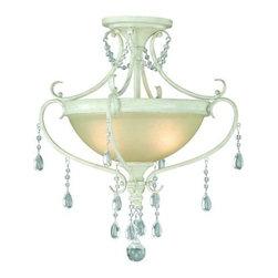 Vaxcel Lighting - Vaxcel Lighting C0039 Bristol 2 Light Semi-Flush Ceiling Fixture - Features: