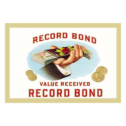 """Buyenlarge.com, Inc. - Record Bond Cigars- Paper Poster 12"""" x 18"""" - Another high quality vintage art reproduction by Buy enlarge. One of many rare and wonderful images brought forward in time. I hope they bring you pleasure each and every time you look at them."""