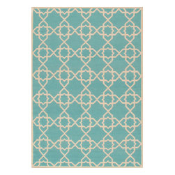 Sahara - Handwoven Moroccan Star Rug, Aqua, 6' X 9' - These eye catching 100% wool rugs will bring focus to any home decor.  Define a space with these hand crafted geometric rugs available in today's contemporary colors.