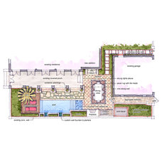 Modern Site And Landscape Plan by Horton Land Works