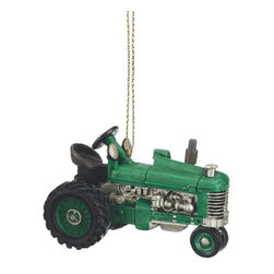 Midwest CBK - Green Tractor Christmas Tree Ornament - Farm Country Machine Holiday Gift - Green Tractor Christmas Ornament
