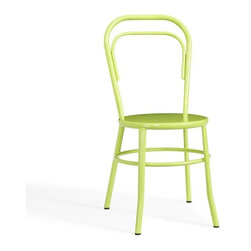 Rhodes Chair, Apple Green - These celery green metal chairs are so fun and add a bit of whimsy. I could see these charmers paired with a great round wooden table for summer gatherings.