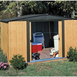 Arrow Sheds - Arrow Woodlake 8 x 6-foot Storage Shed - With electro galvanized steel for corrosion resistance,this storage shed constructs to a respectable 8-foot by 6-foot size. The parts are pre-cut and pre-drilled for easy do-it-yourself construction.