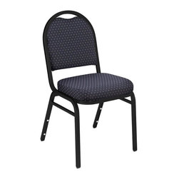 National Public Seating - Dome Back Upholstered Banquet Chair - Set of - Free Dolly with Purchase!. Set of 10. 0.88 in. square tube 18-guage black santex steel frame with 0.63 under seat and H-braces. Back has convenient handhold for easier moving and stacking. 2 in thick A foam. Double stitched with spacious. Waterfall seat. Stacking bars and 12 plastic stack bumpers ensure stacking securely without damaging. Steel contains 30-40% of post-consumer waste (recycled). Plastic contains up to 35% of pre-consumer waste. Warranty: Five years for material. Attractive powder coated frame finish. 16 in. W x 16 in. D x 34 in. H