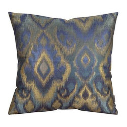 """Howard Elliott Opal Pacific 20"""" x 20"""" Pillows - Change up color themes or add pop to a simple sofa or bedding display by piling up the pillows in a multitude of colors, textures and patterns. This Opal Pillow features a bold pattern of blues, greens and gold's."""
