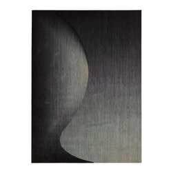 """Nourison - Nourison Radiant Arts RA01 (Onyx) 2'3"""" x 4' Rug - Artwork worthy of any modern museum collection, these designs are seemingly painted from prisms of bending light. Subtle differences in hues create these stylish artistic effects."""