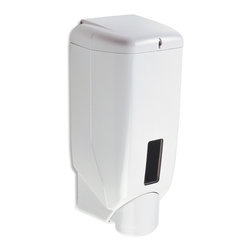 StilHaus - Wall Mounted Liquid Soap Dispenser - Wall mounted bathroom liquid soap dispenser. Hand soap dispenser is made out of white thermoplastic resins. Stylish gel dispenser easily mounts onto bathroom wall with screws. Made in Italy by StilHaus. Wall hung bathroom liquid soap dispenser. White thermoplastic resins. Easily mounts to bathroom wall with screws. From the StilHaus Accessories Collection.